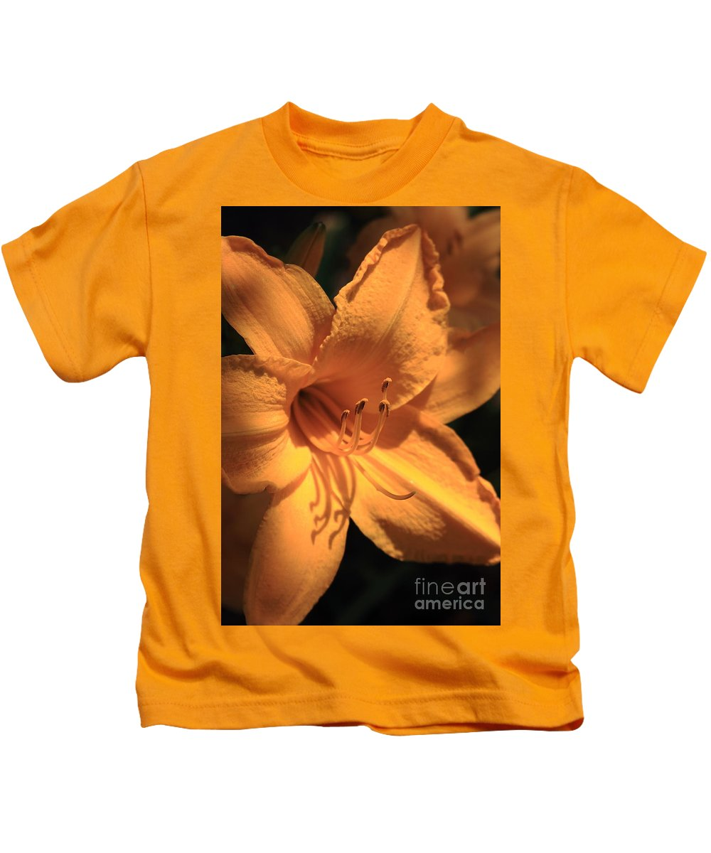 Flower Kids T-Shirt featuring the photograph Day Lily Shadows by Reid Callaway