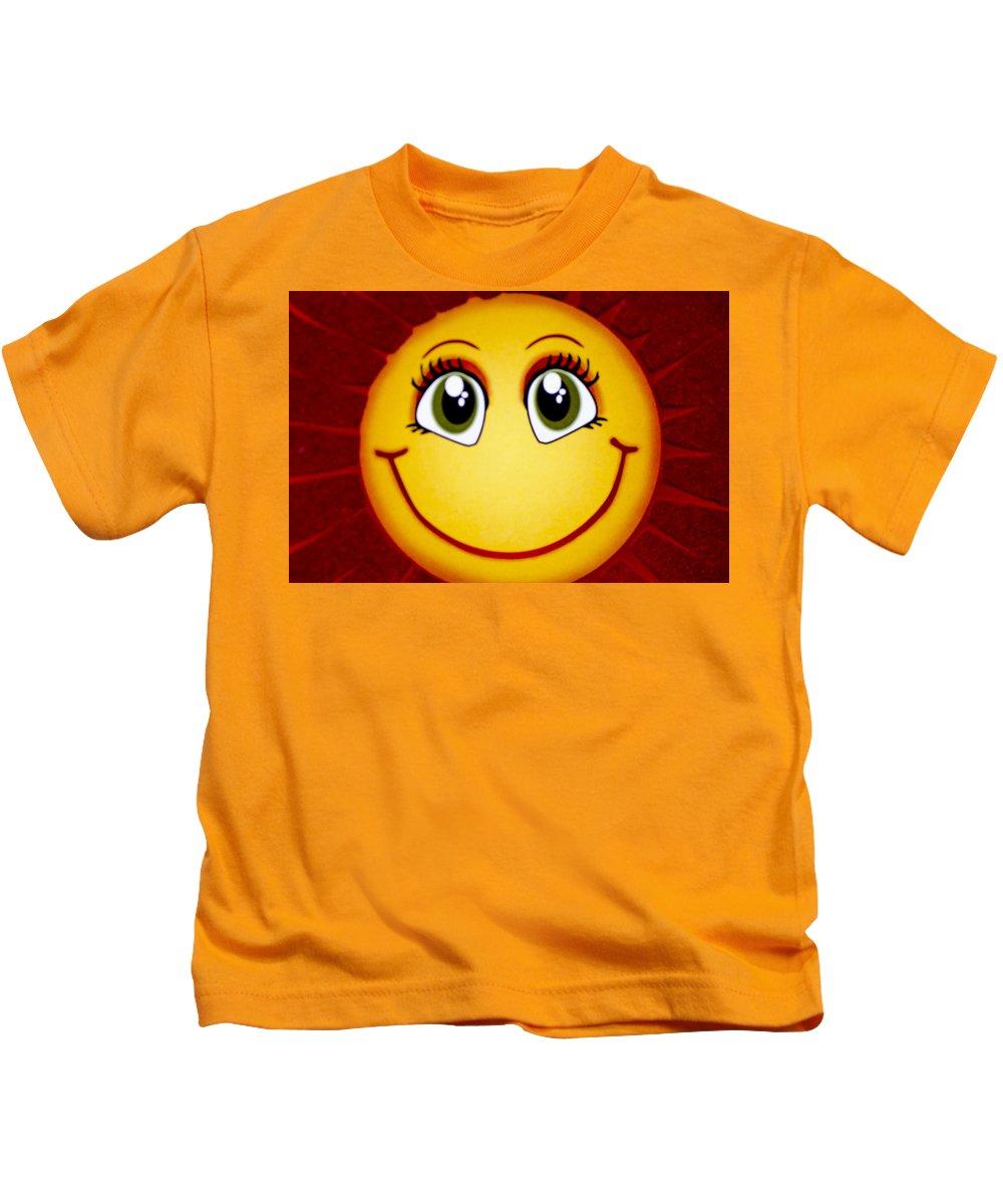 Sun Kids T-Shirt featuring the photograph Smiley Sun by Sotiris Filippou