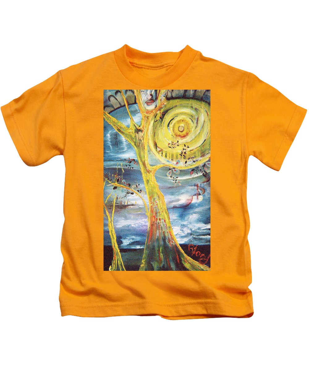 Impressionism Kids T-Shirt featuring the painting Spring Glory by Peggy Blood