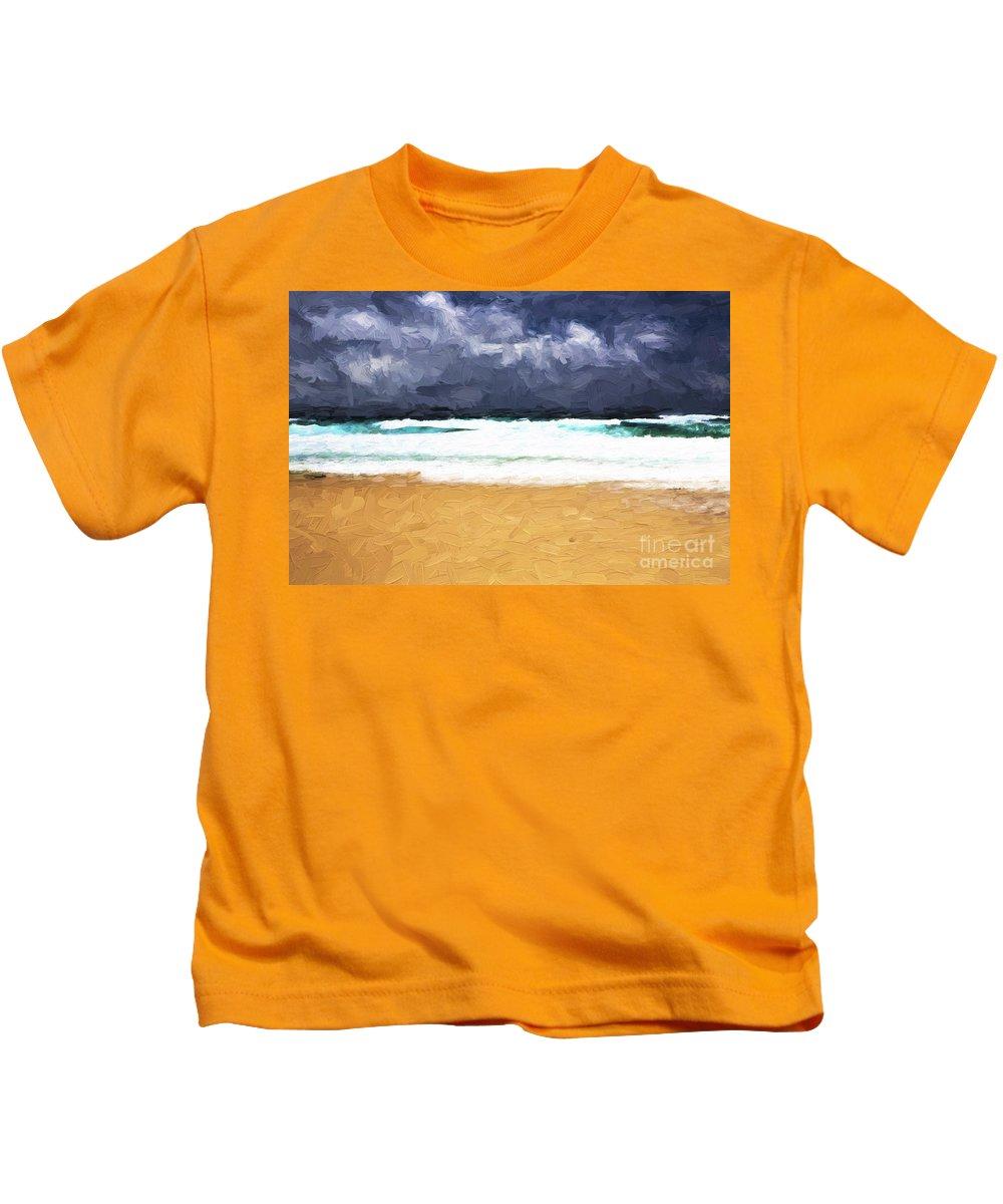 Storm Kids T-Shirt featuring the photograph Storm approaching Manyana by Sheila Smart Fine Art Photography