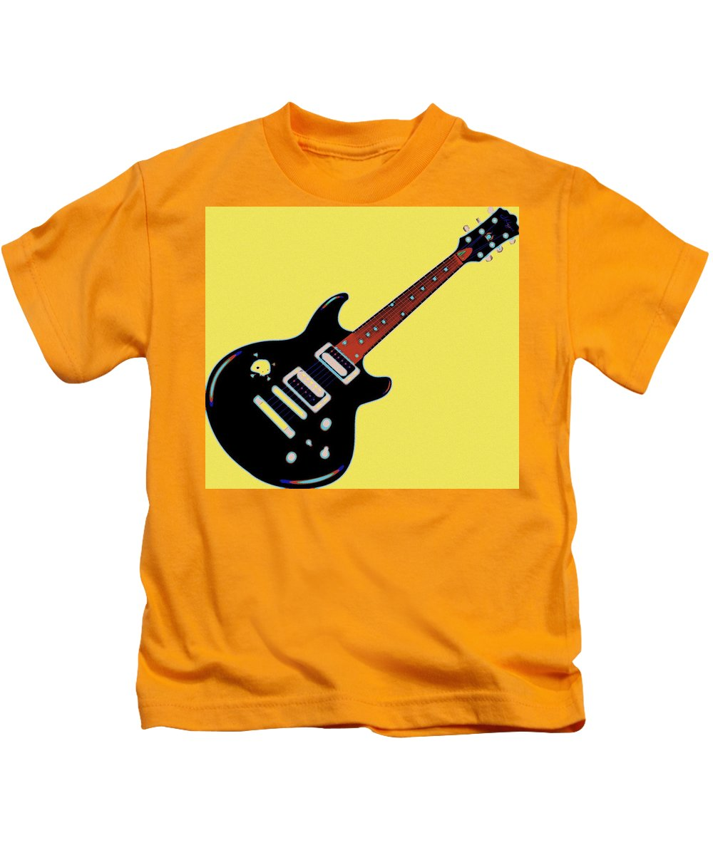 String Kids T-Shirt featuring the painting Strings Of Rock by Florian Rodarte