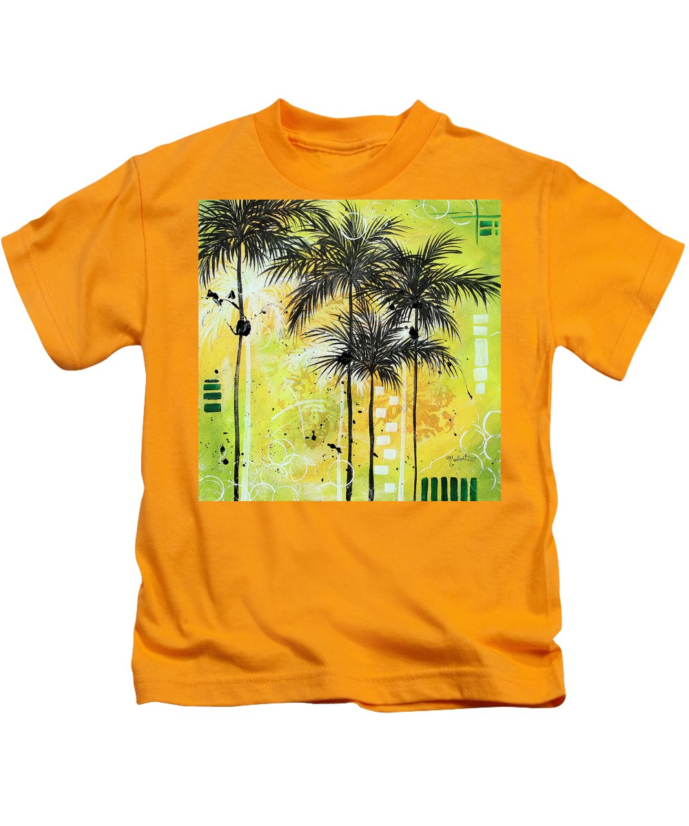 Wall Kids T-Shirt featuring the painting Summer Time In The Tropics By Madart by Megan Duncanson