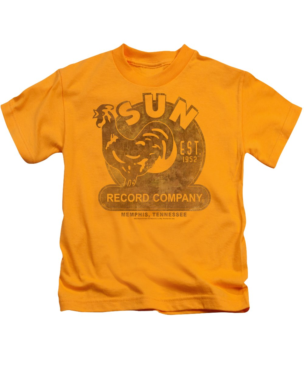 Sun Record Company Kids T-Shirt featuring the digital art Sun - Sun Record by Brand A