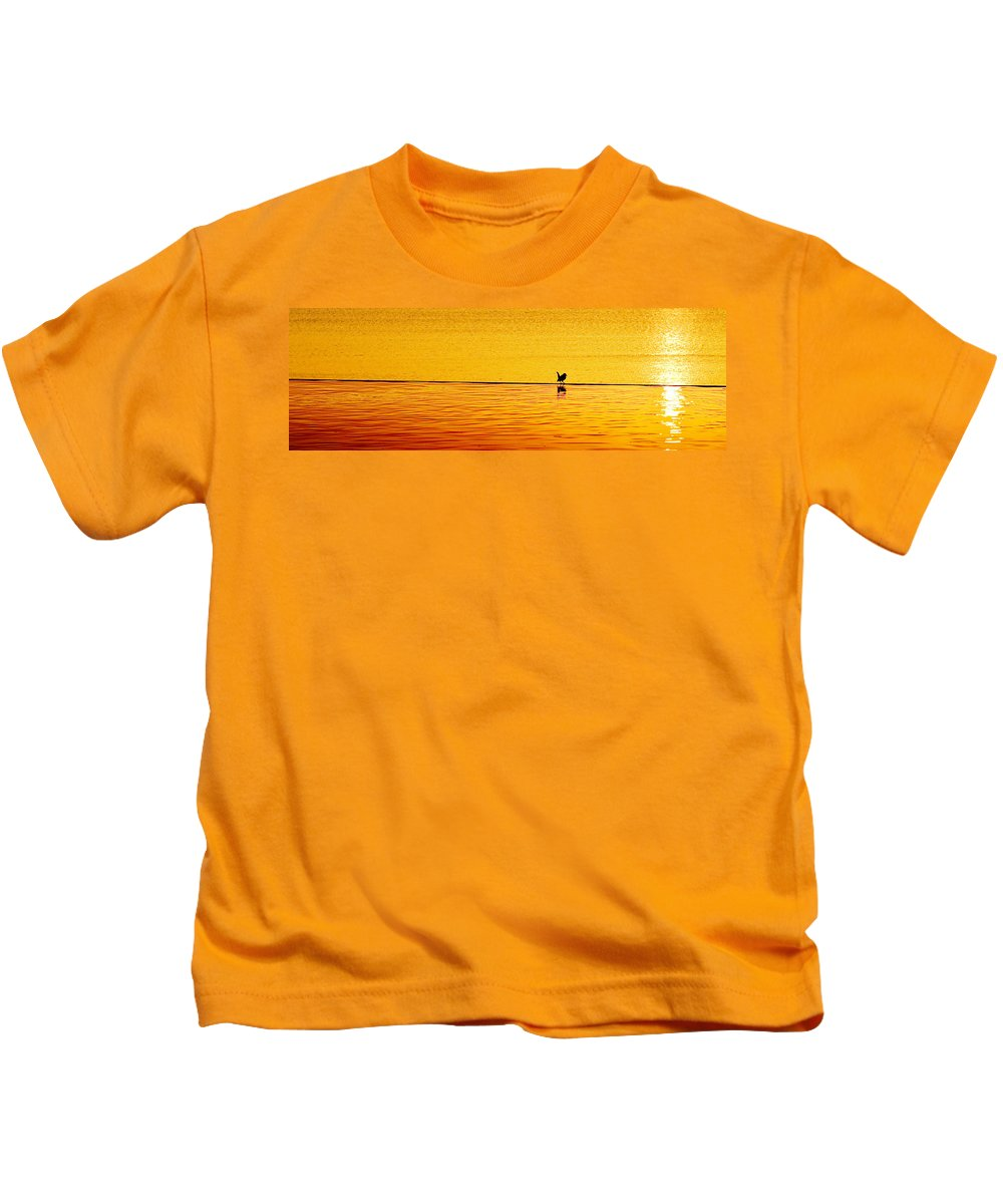 Aboretum Kids T-Shirt featuring the photograph Sunset Silhouette by Darryl Dalton