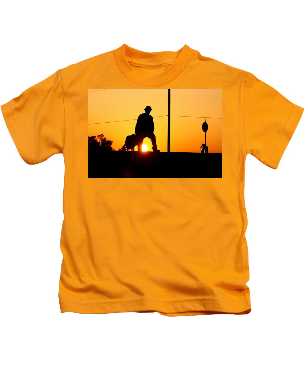 Hobo Kids T-Shirt featuring the photograph Sunset Tunnel by Nedra Russ