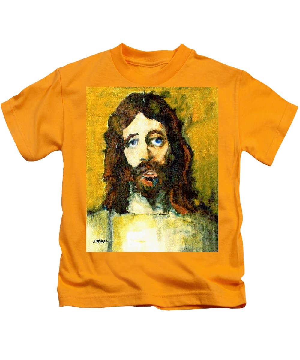 Jesus Christ Kids T-Shirt featuring the painting The Galilean by Seth Weaver