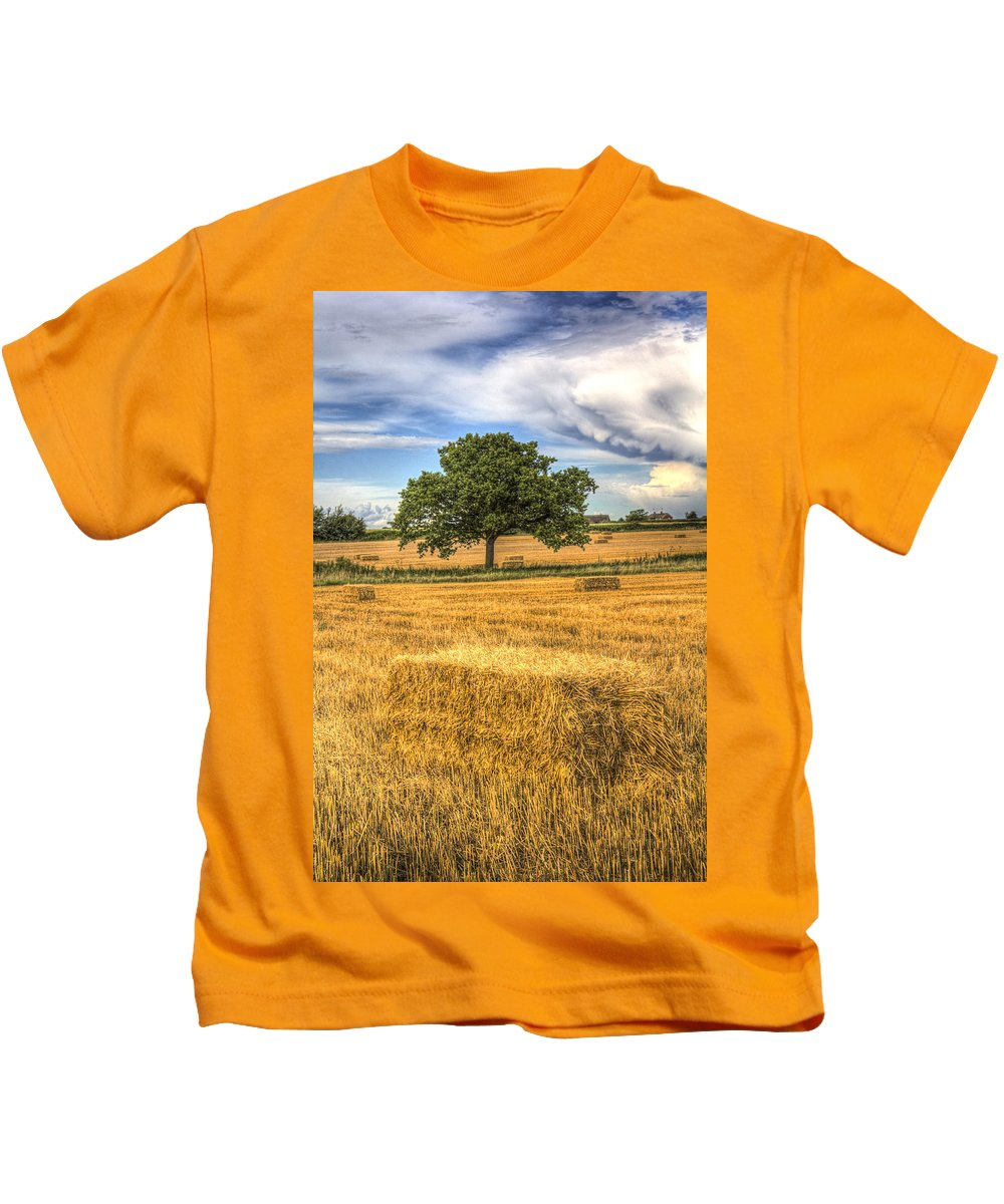 Farm Kids T-Shirt featuring the photograph The Solitary Farm Tree by David Pyatt