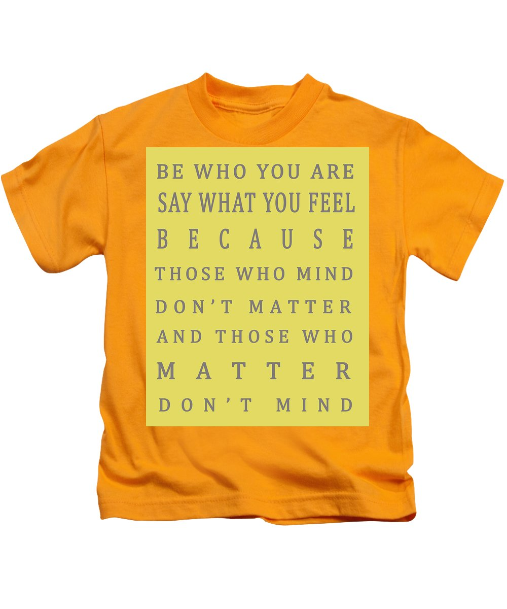 Those Who Matter Don\'t Mind - Dr Seuss Kids T-Shirt for Sale by ...