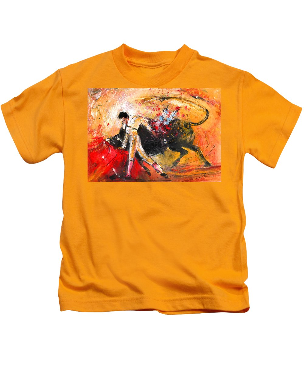Animals Kids T-Shirt featuring the painting Toroscape 58 by Miki De Goodaboom