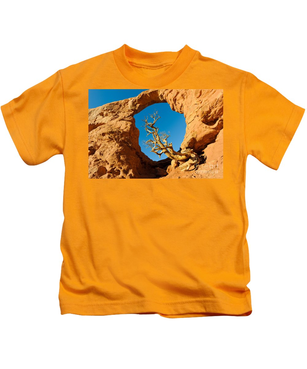 Nature Kids T-Shirt featuring the photograph Turret Arch, Arches National Park by John Shaw