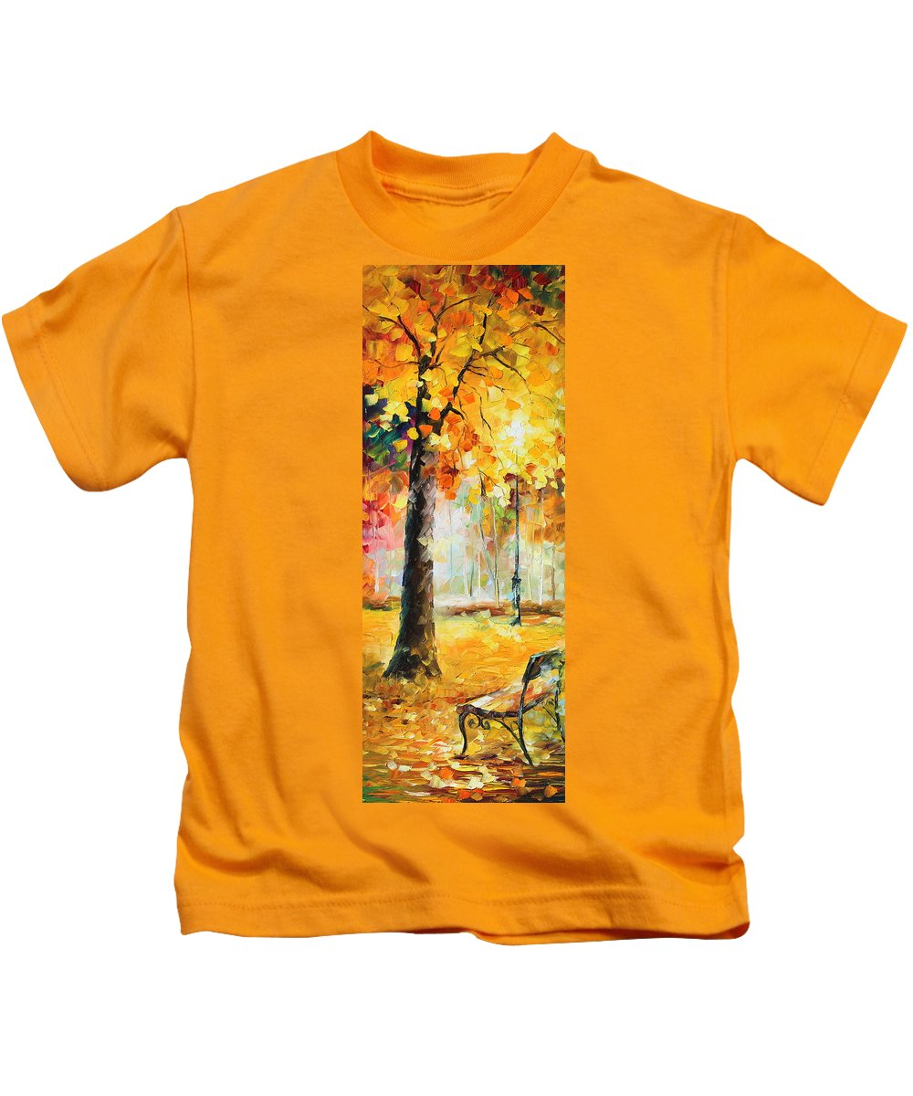 Afremov Kids T-Shirt featuring the painting Wind Of Dreams 3 by Leonid Afremov