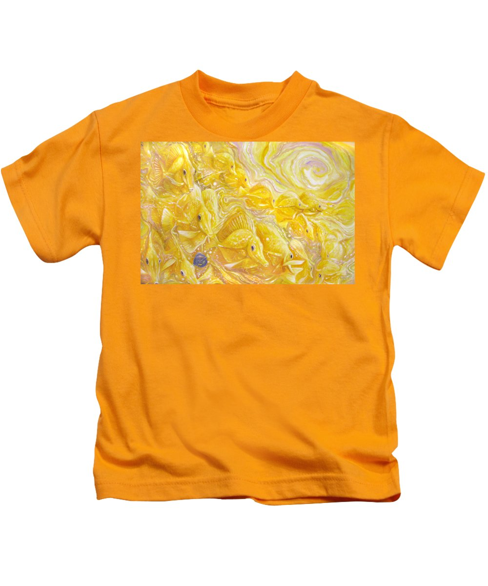 Tang Kids T-Shirt featuring the painting Wrong Tang Wrong Place by Gill Bustamante