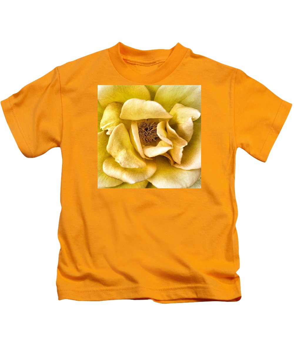 Yellow Kids T-Shirt featuring the photograph Yellow Rose by Myda Muckala