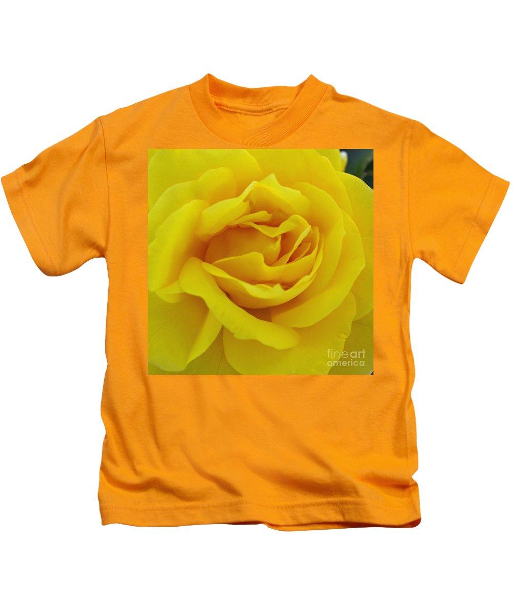 Beautiful Kids T-Shirt featuring the digital art Yellow Rose by Jacklyn Duryea Fraizer