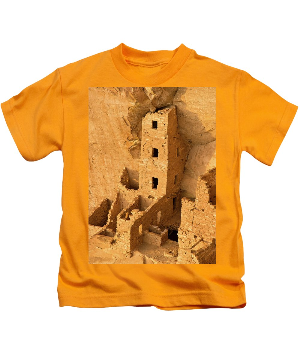 Square Tower Kids T-Shirt featuring the photograph Square Tower Evening by Greg Nyquist