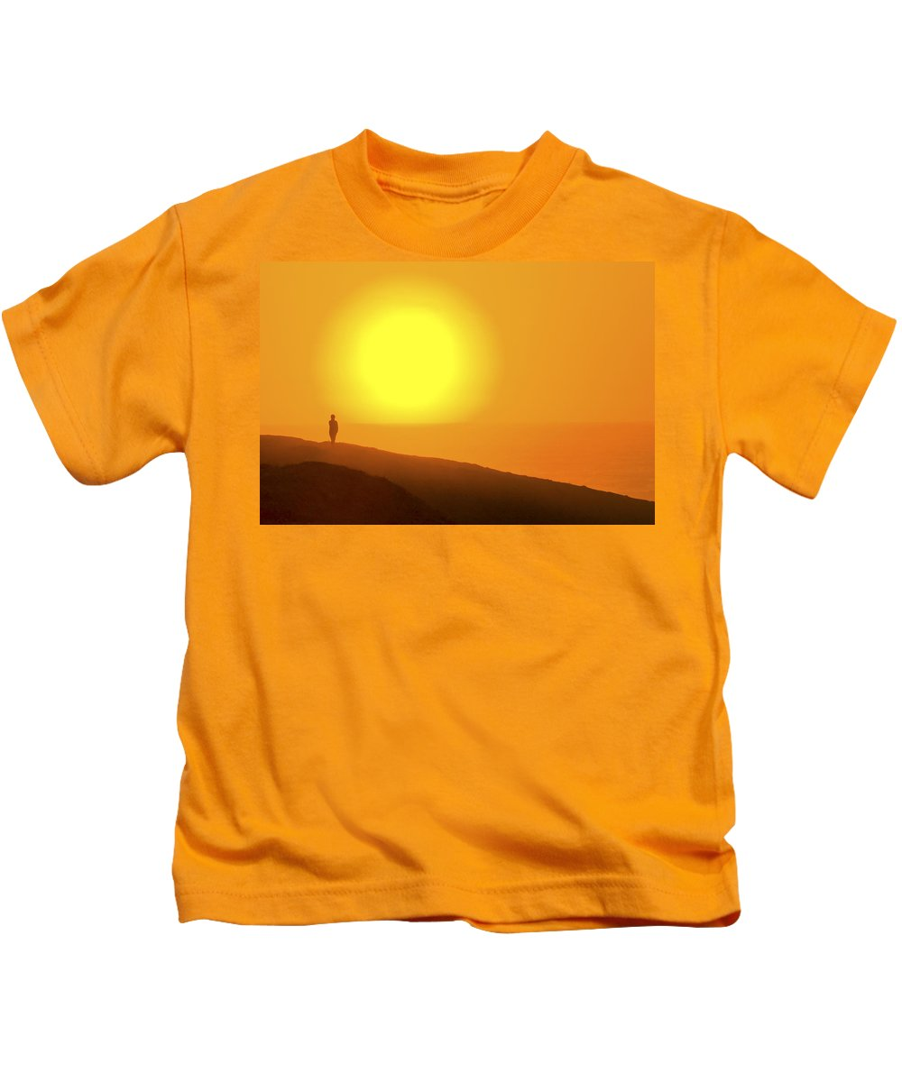 Blazing Sun Kids T-Shirt featuring the photograph Blazing Sun by Wes and Dotty Weber