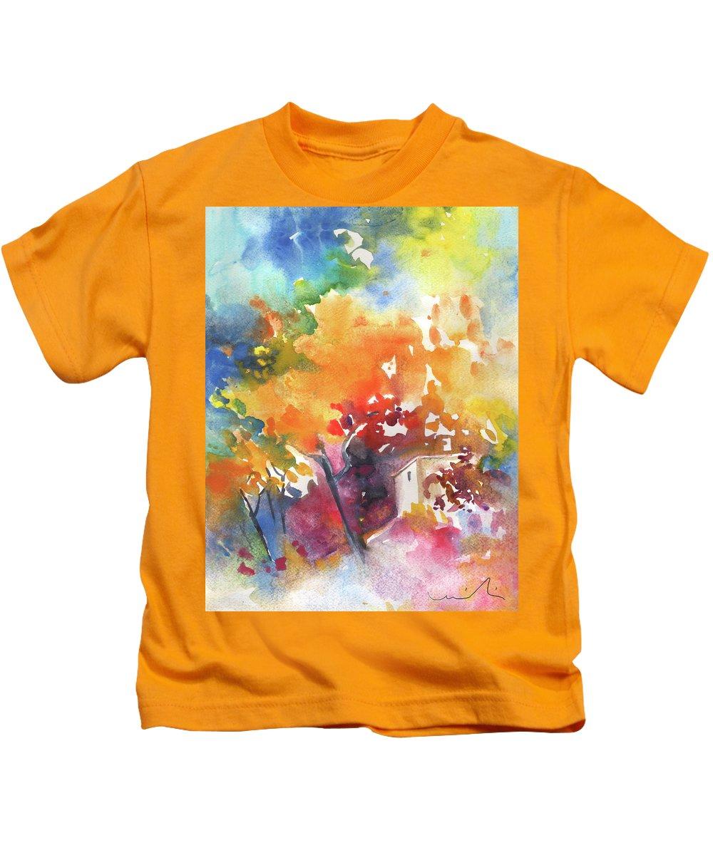 Landscapes Kids T-Shirt featuring the painting Casa De Campo 01 by Miki De Goodaboom
