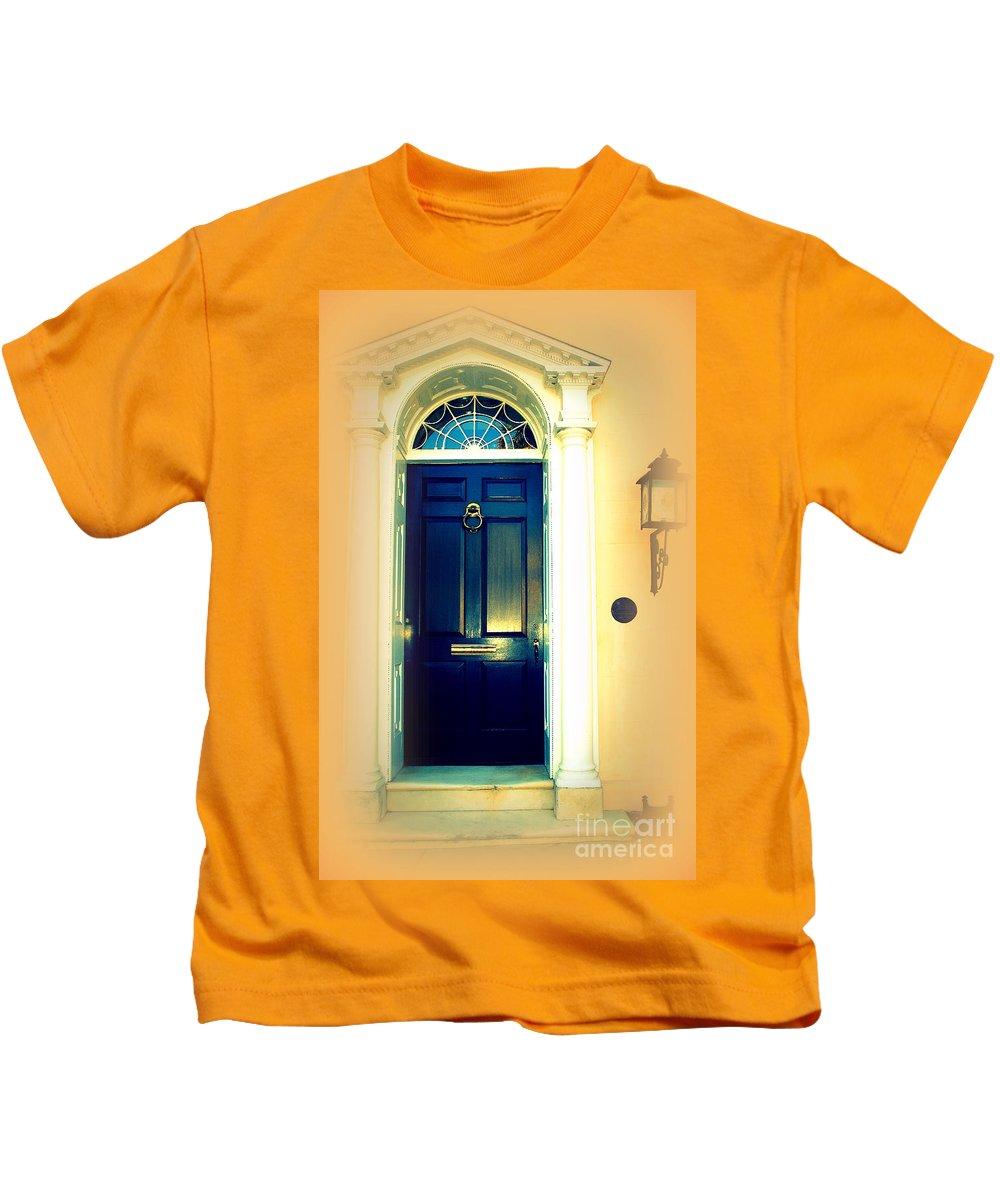 Charleston Kids T-Shirt featuring the photograph Charleston Door 3 by Susanne Van Hulst