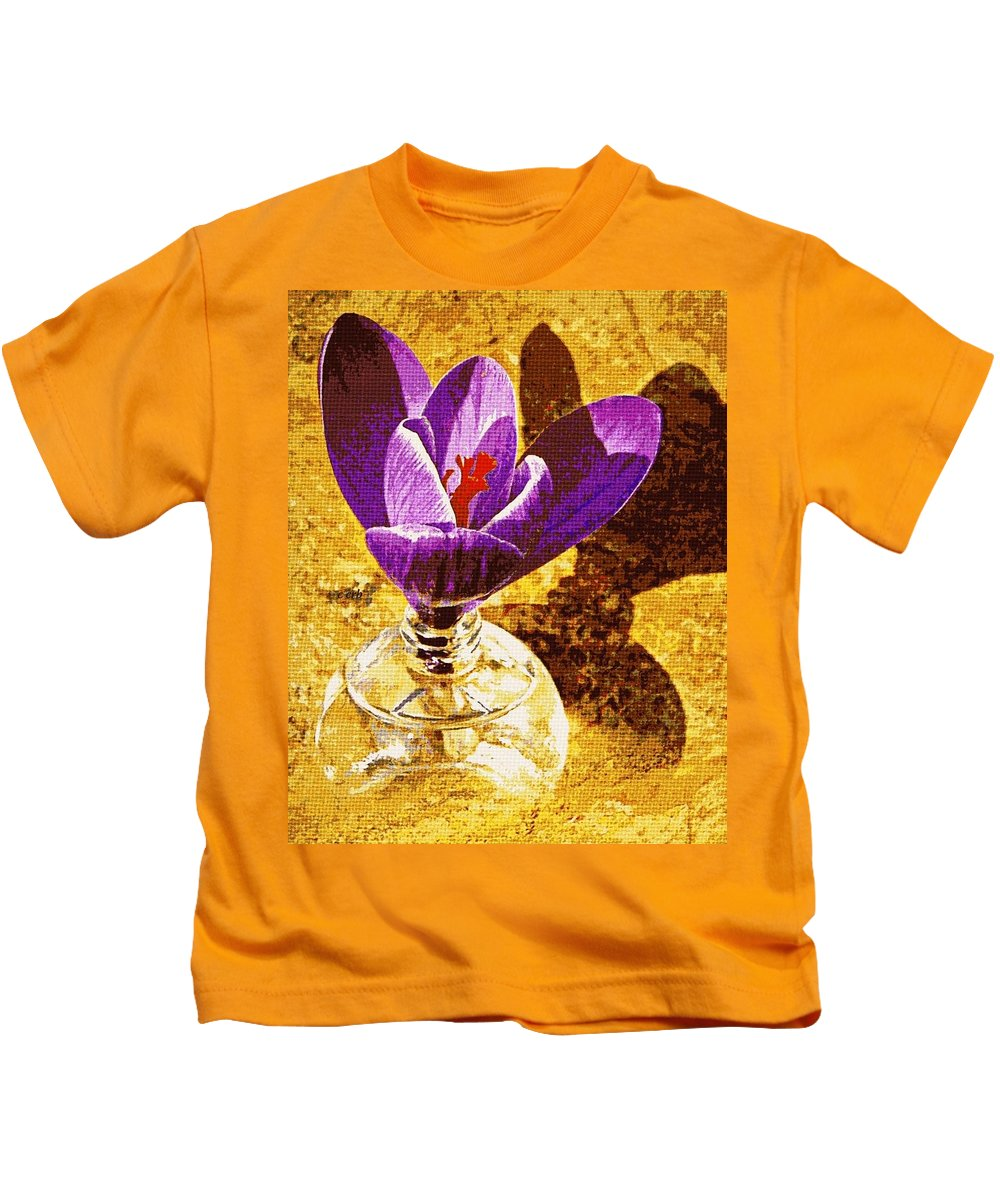 Nature Kids T-Shirt featuring the photograph Crocus Graphic by Chris Berry