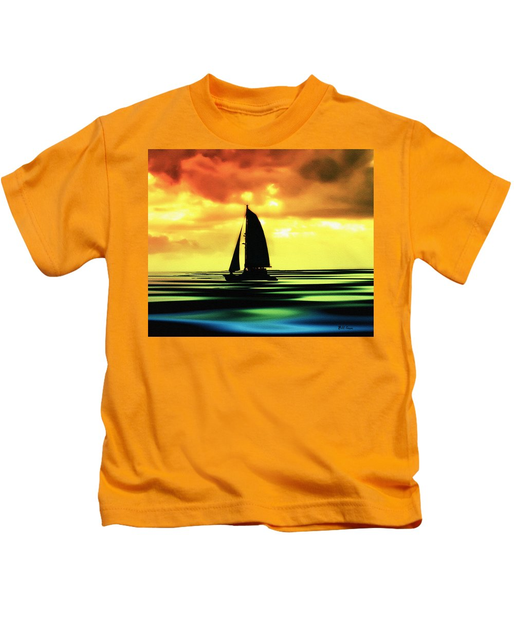 Sail Kids T-Shirt featuring the photograph Dusk by Bill Cannon