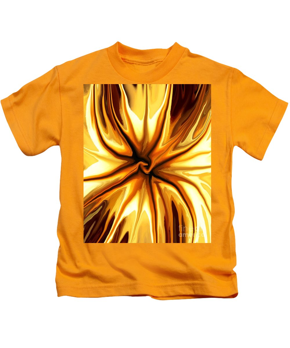 Abstract Kids T-Shirt featuring the mixed media Friendship by Chris Butler