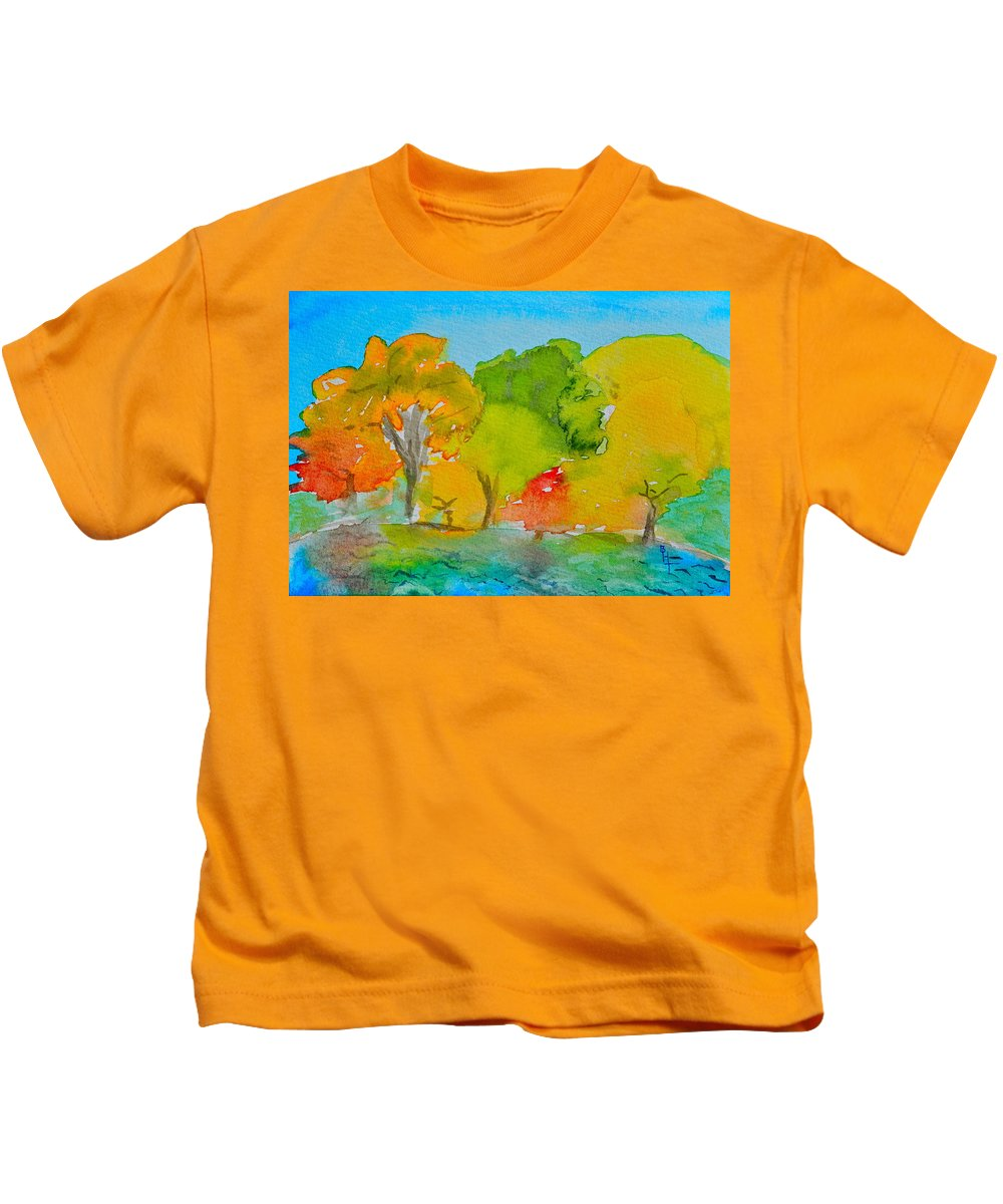 Park Kids T-Shirt featuring the painting Park Impression by Beverley Harper Tinsley