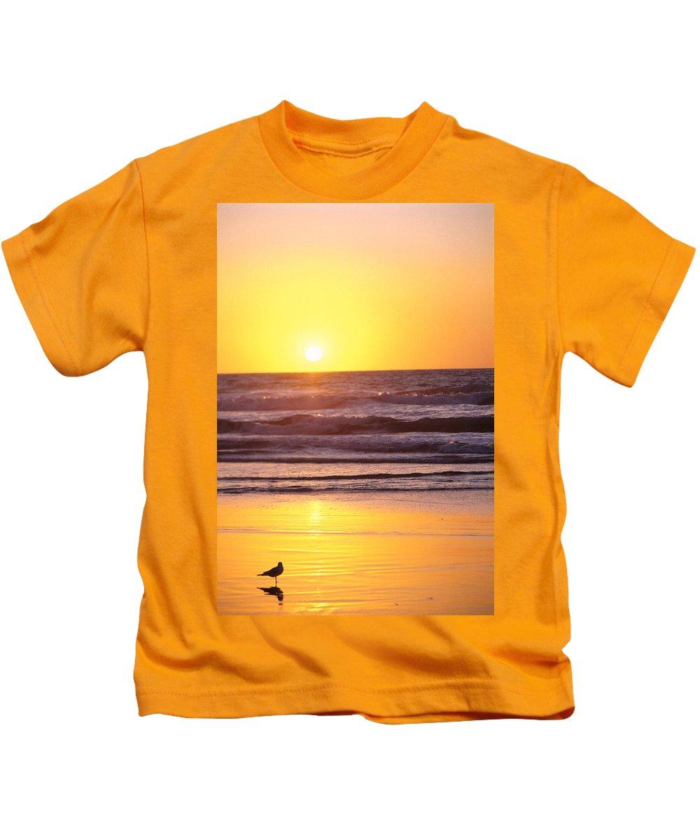 Beach Kids T-Shirt featuring the photograph Sunset Over Ocean by Bill Schildge - Printscapes