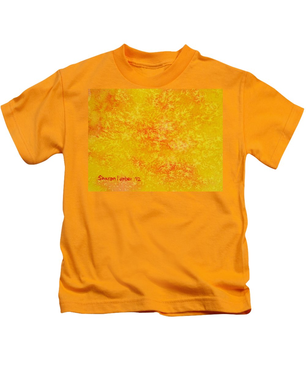 Sun Kids T-Shirt featuring the painting Sunshine by Sharon Farber