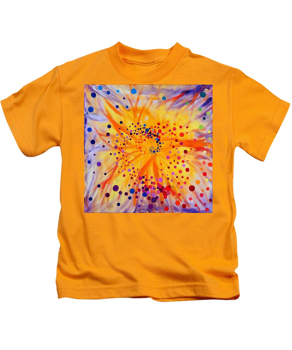 Symmetry Kids T-Shirt featuring the painting Symmetry Breaking by Regina Valluzzi