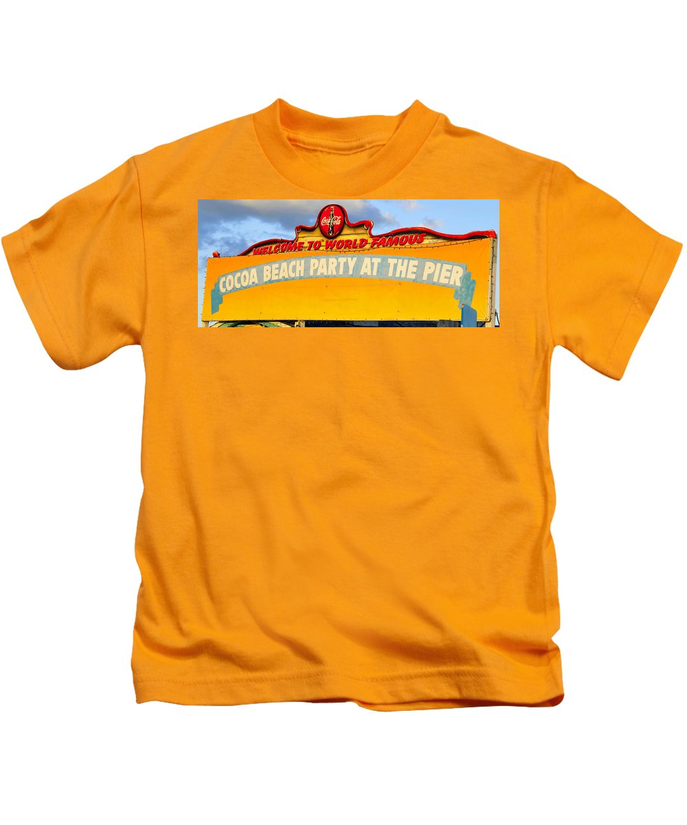 Fine Art Photography Kids T-Shirt featuring the photograph World Famous Party by David Lee Thompson