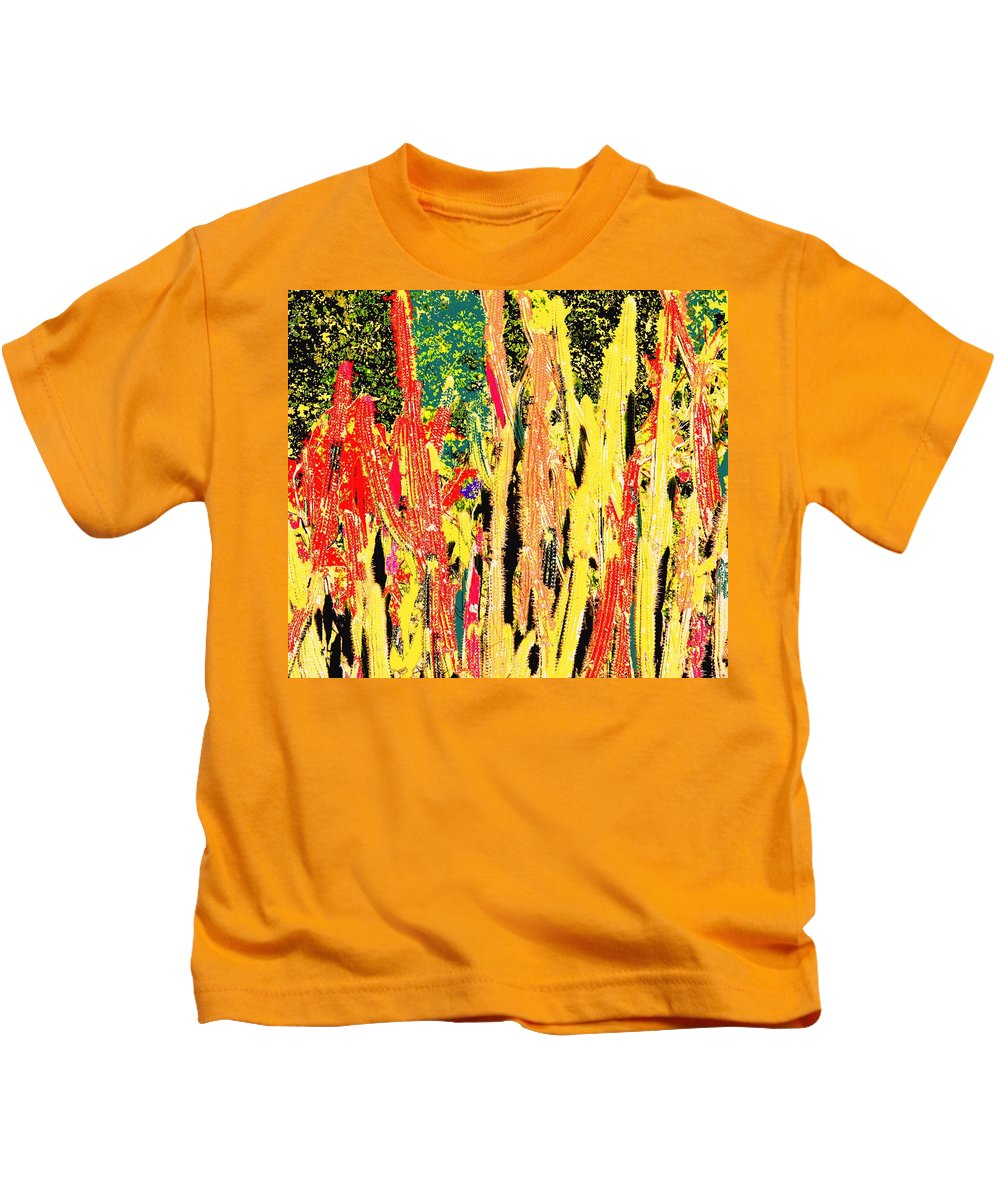 Cactus Kids T-Shirt featuring the digital art Bridgestone Cacti by Ian MacDonald