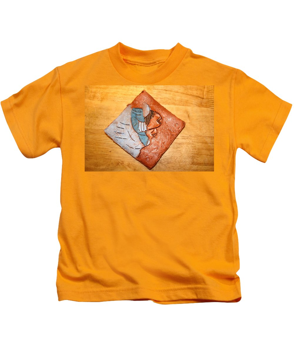 Jesus Kids T-Shirt featuring the ceramic art Akaweese - Tile by Gloria Ssali
