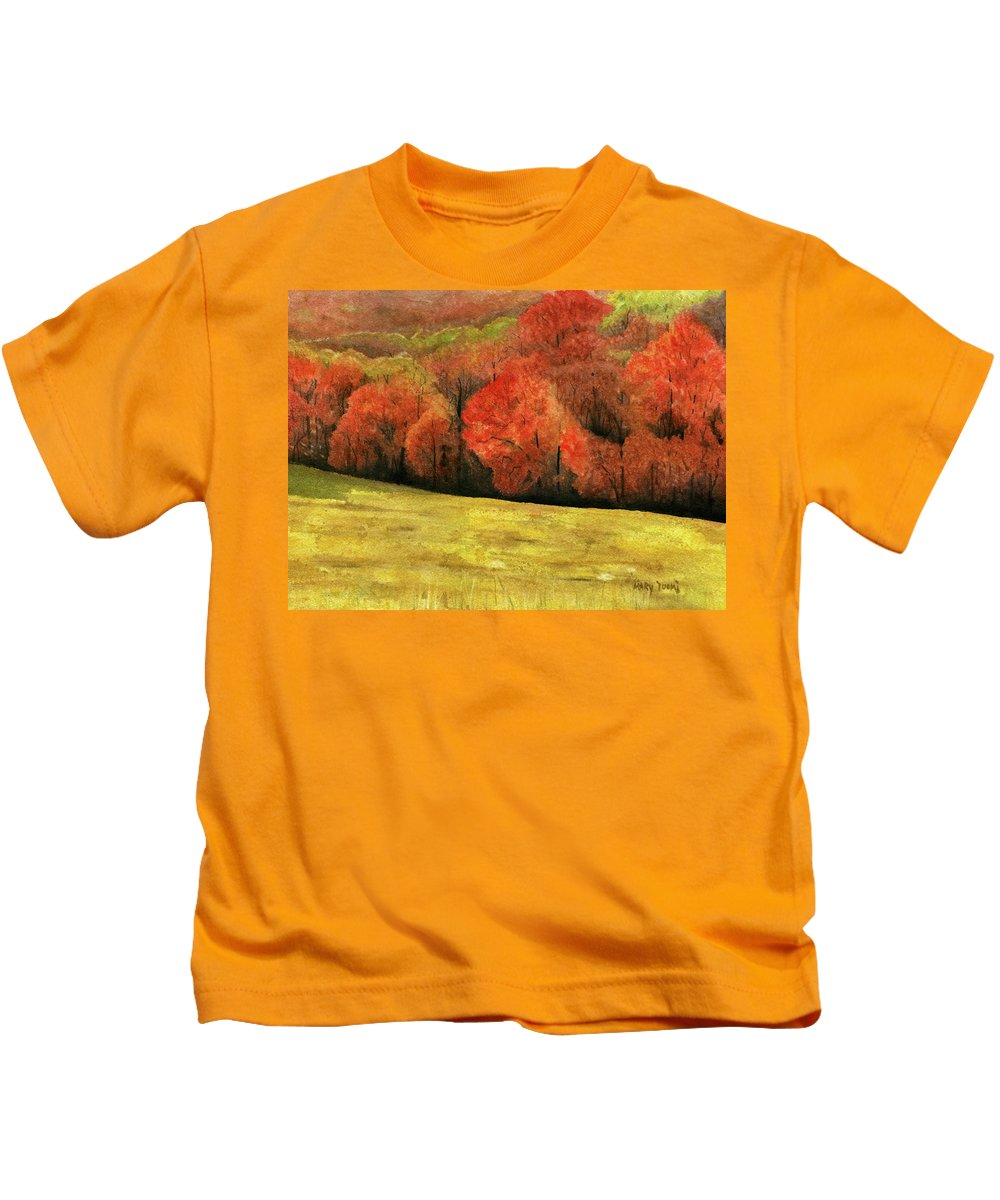 Autumn Kids T-Shirt featuring the painting Autumn Splendor by Mary Tuomi