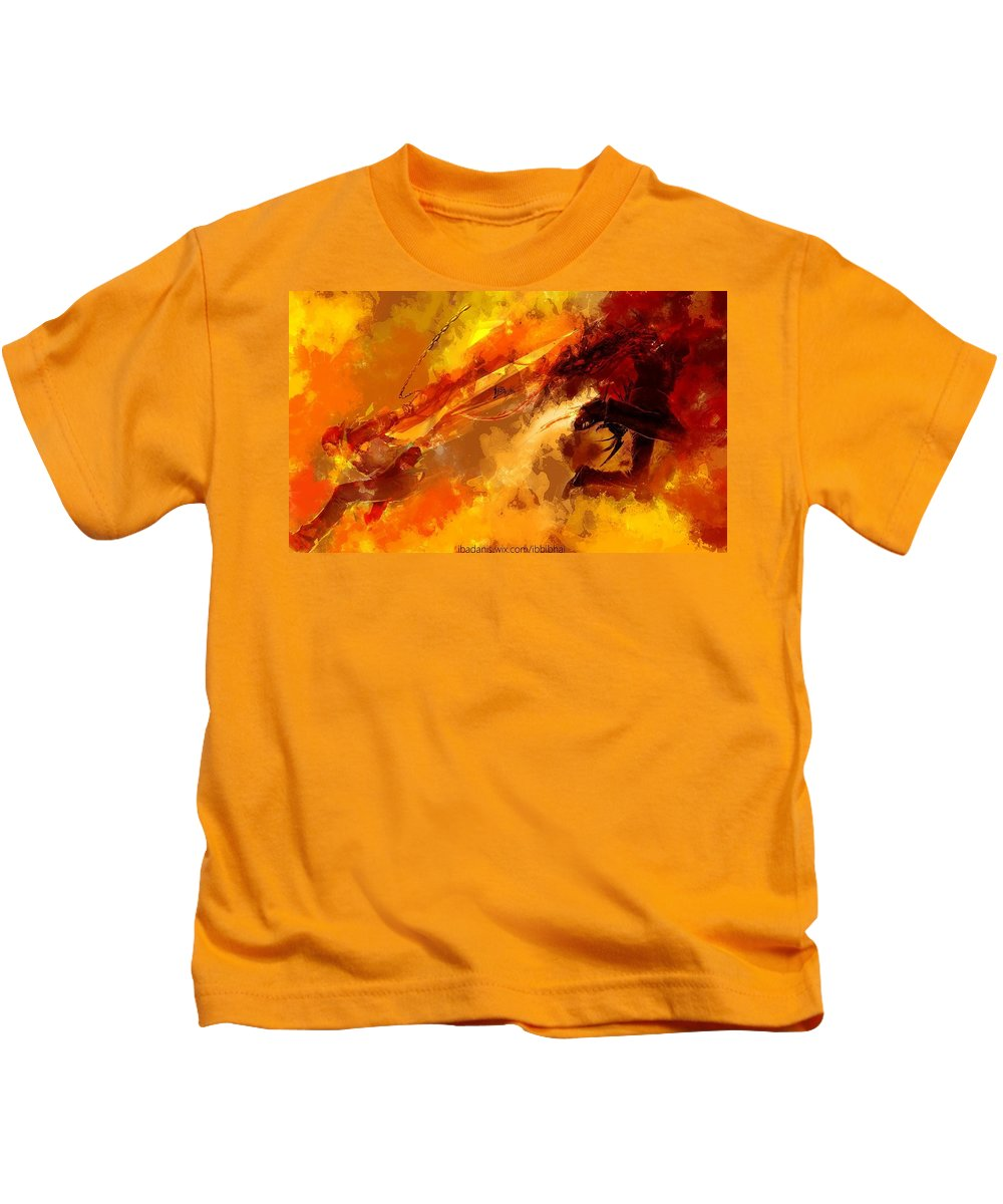 Crossover Kids T-Shirt featuring the digital art Crossover by Dorothy Binder