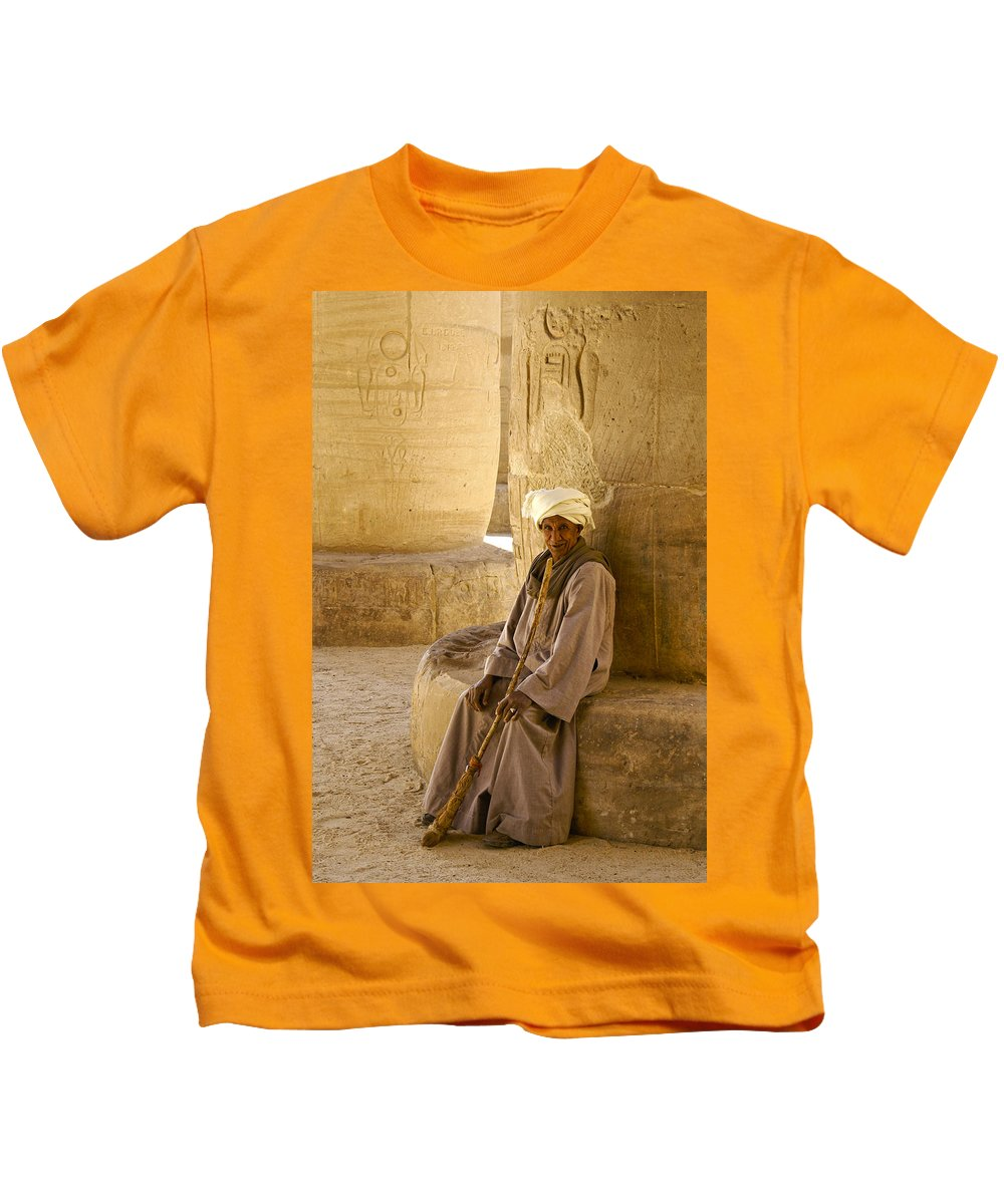 Egypt Kids T-Shirt featuring the photograph Egyptian Caretaker by Michele Burgess