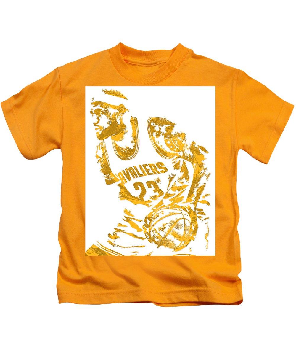 best website 5902e d6b72 Lebron James Cleveland Cavaliers Pixel Art 7 Kids T-Shirt
