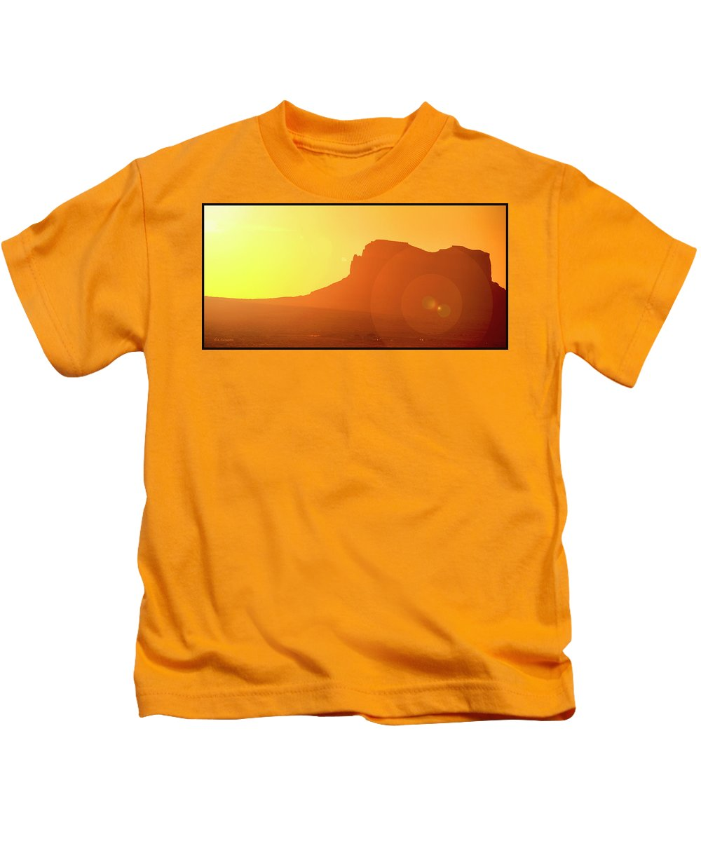 Colorado Plateau Kids T-Shirt featuring the photograph Monument Valley Sunrise by A Gurmankin