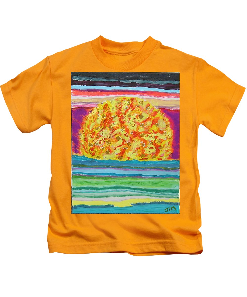 Hot Kids T-Shirt featuring the painting The Sun Drinks The Ocean And Eats The Sky by James Campbell