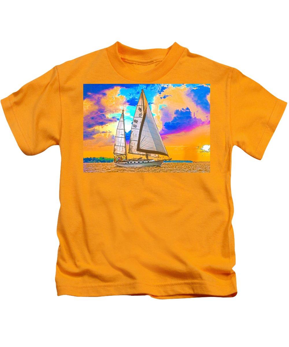 Sunset Kids T-Shirt featuring the photograph Shannon 38 by Richard Goldman