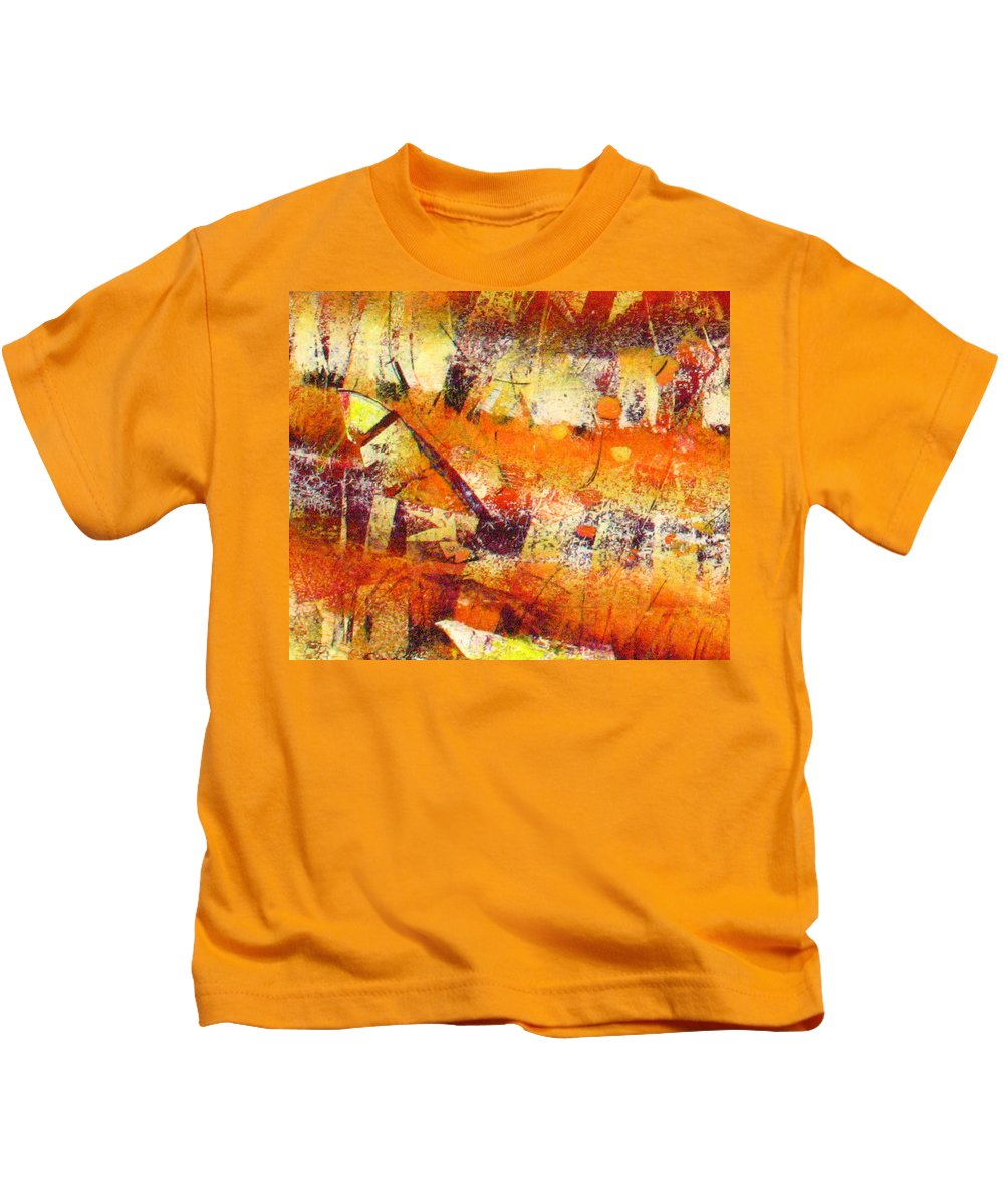 Kids T-Shirt featuring the painting Abstract by Jay Bonifield