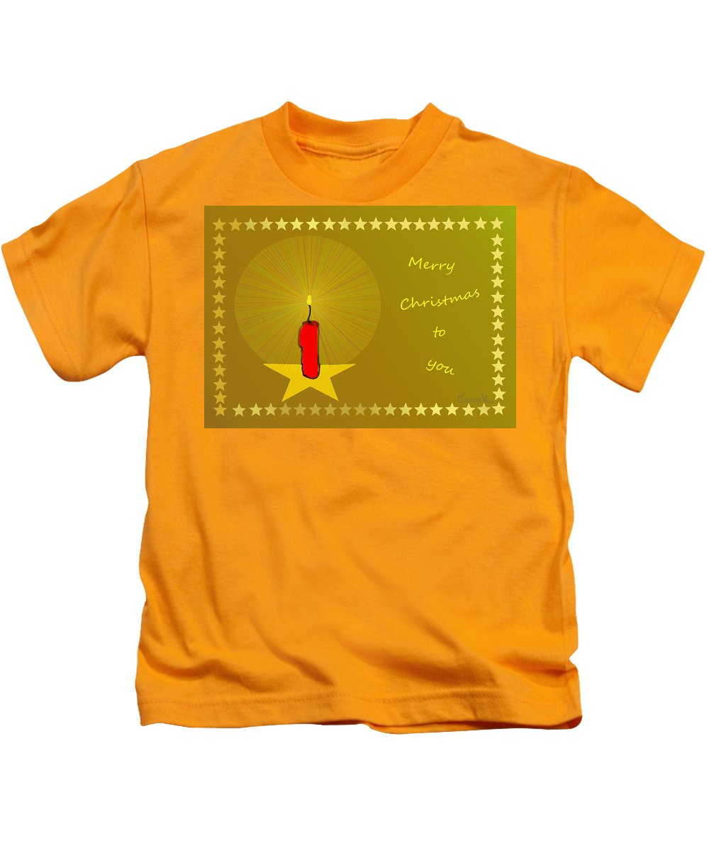 2610 Merry Christmas To You 2018 Kids T-Shirt featuring the digital art 2610 Merry Christmas To You 2018 by Irmgard Schoendorf Welch