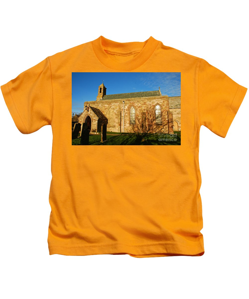 Lindisfarne Priory Kids T-Shirt featuring the photograph Lindisfarne Priory by Kayme Clark