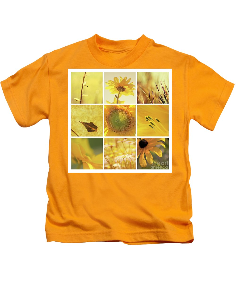 Aimelle Kids T-Shirt featuring the photograph 3x3 Yellow by Aimelle