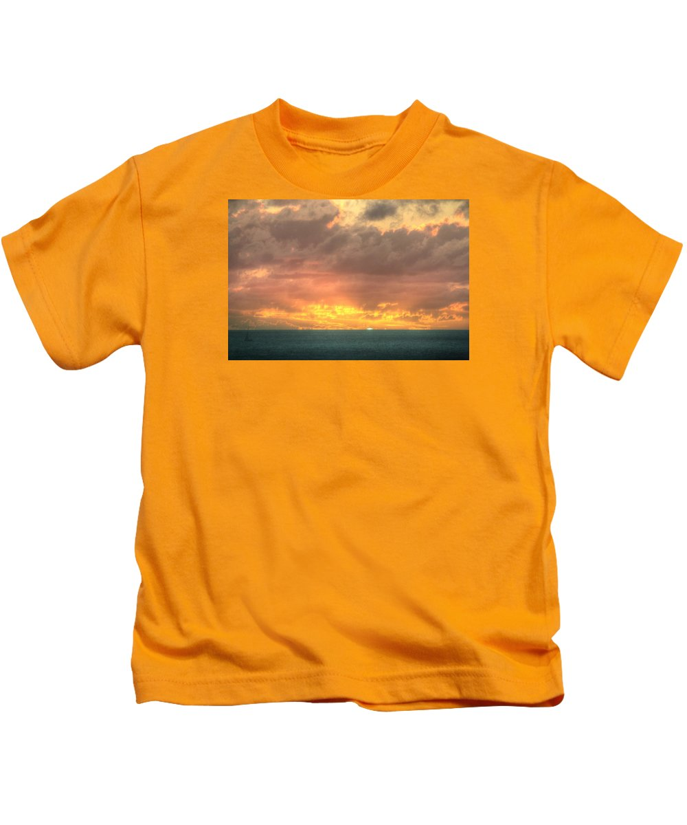 St. Maarten Kids T-Shirt featuring the photograph St. Maarten by Paul James Bannerman