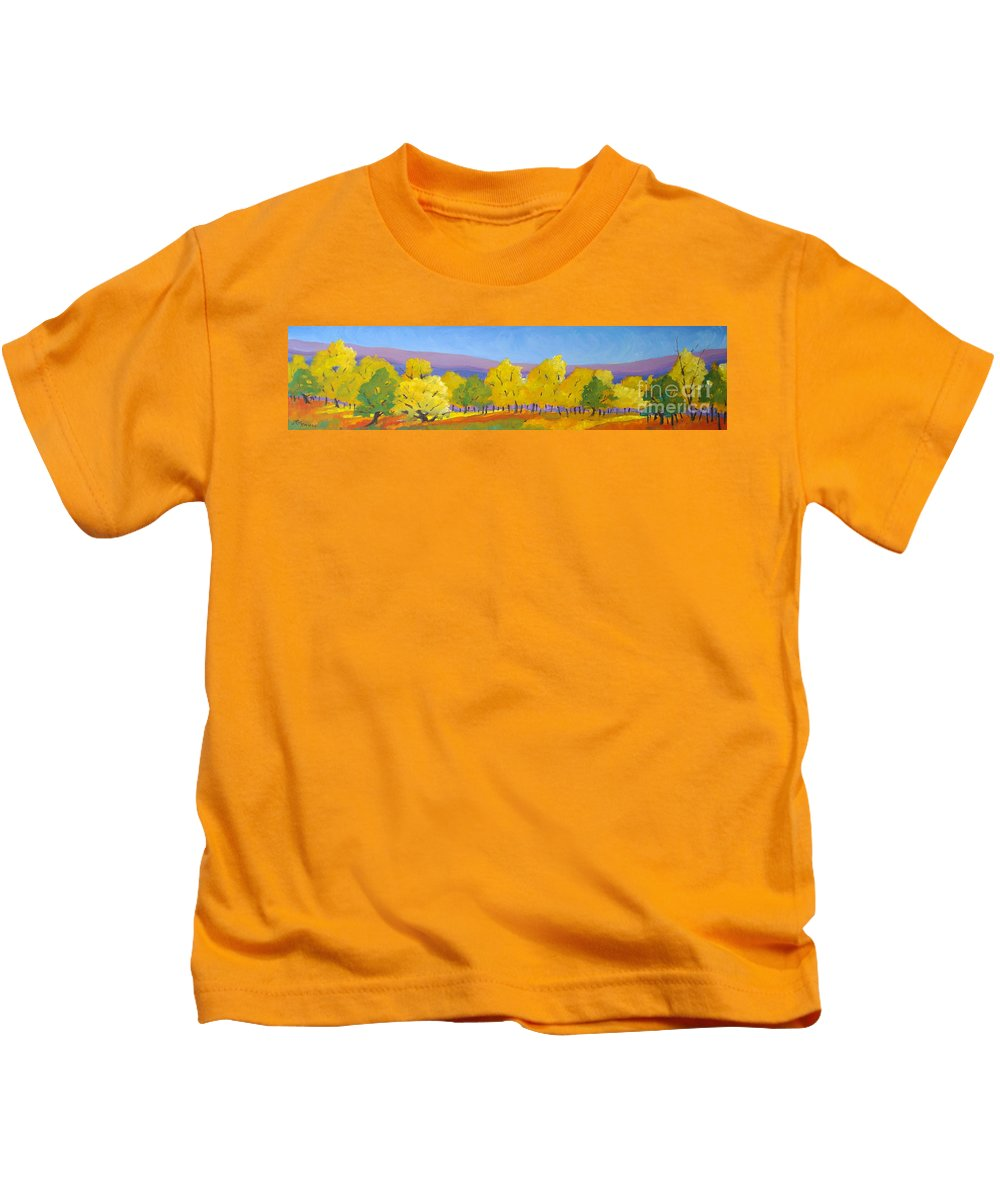 Abstract Kids T-Shirt featuring the painting Abstract 02 by Richard T Pranke