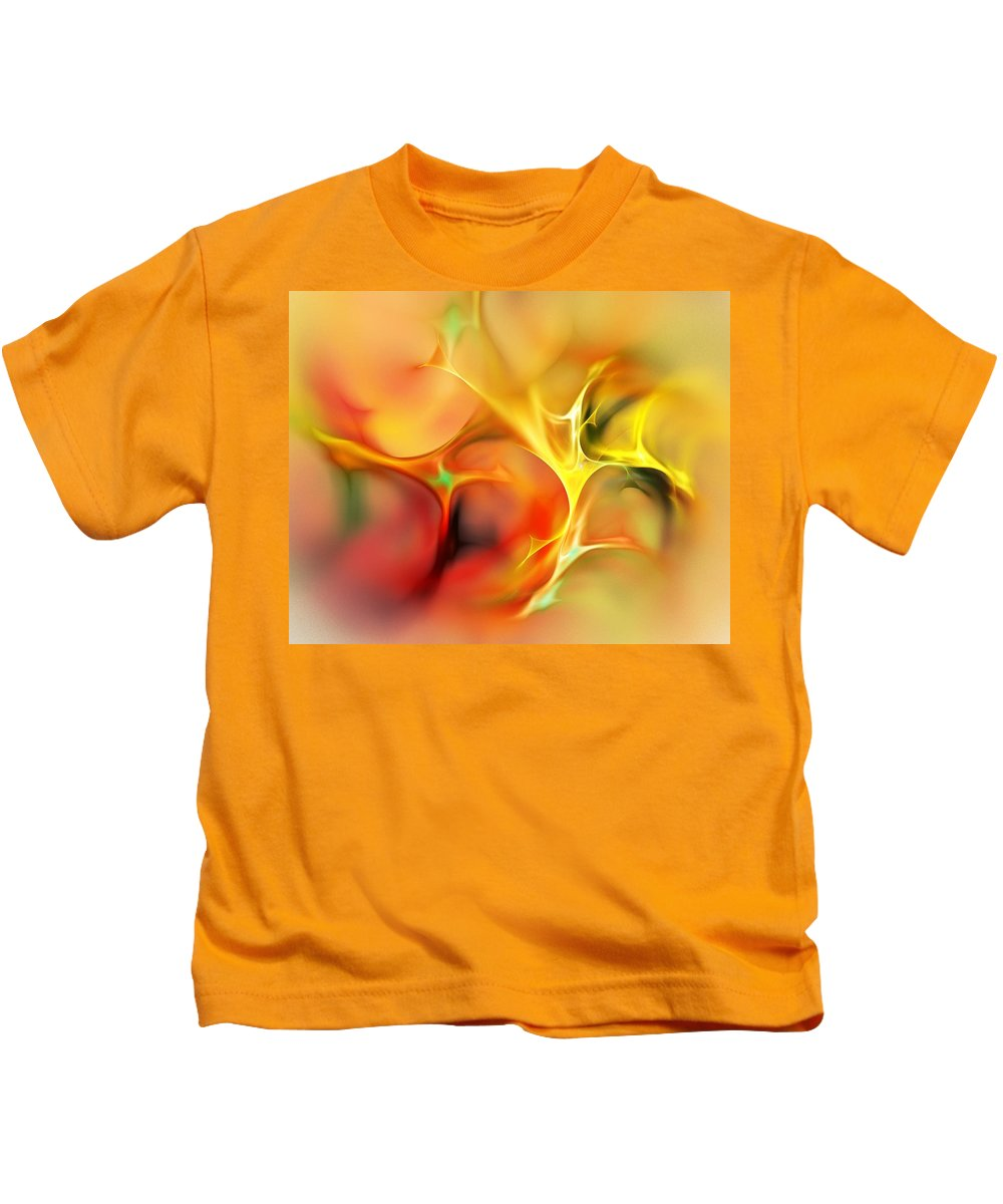 Abstract Kids T-Shirt featuring the digital art Abstract 061410a by David Lane