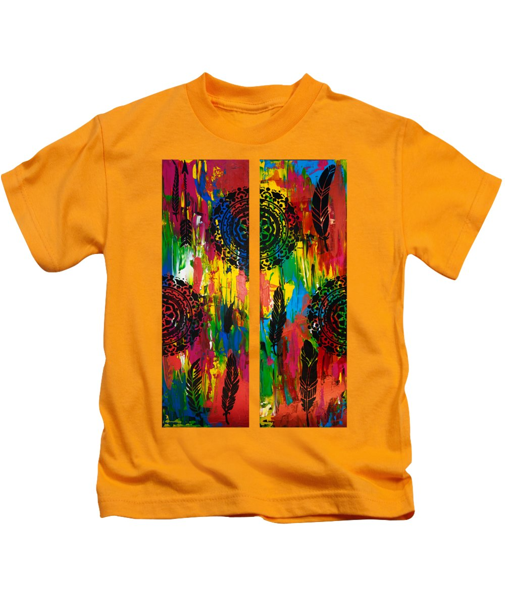 Diptych Paintings Kids T-Shirts