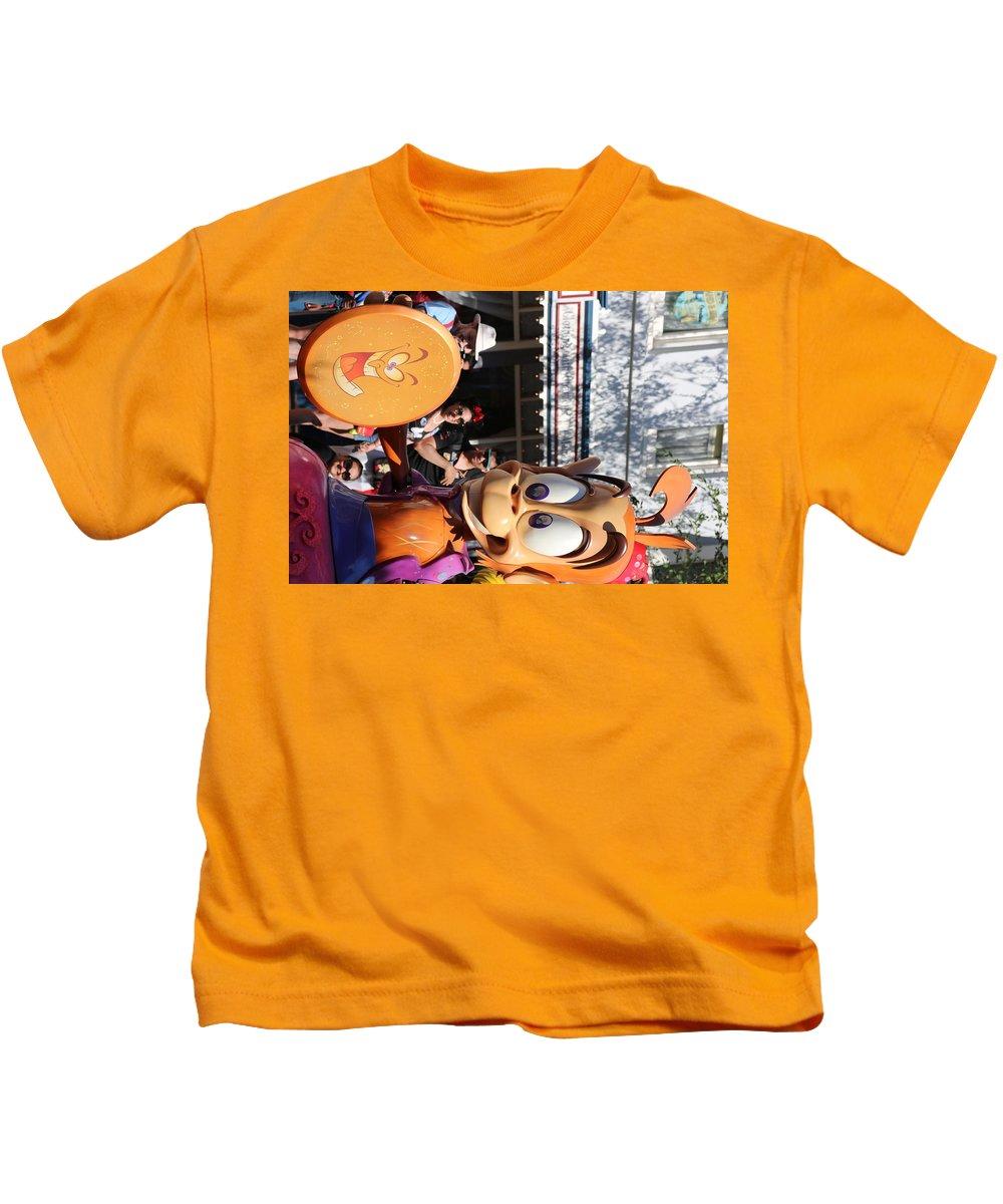 Aladdin Kids T-Shirt featuring the photograph Abu by Amy Stark