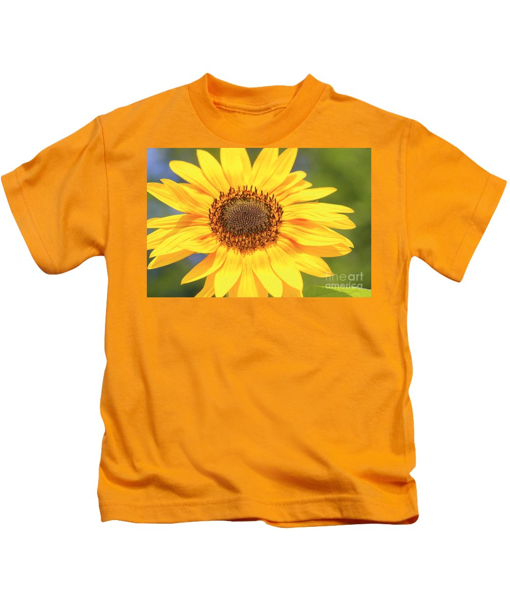 Flower Kids T-Shirt featuring the photograph Aburst Of Yellow by Robert Pearson