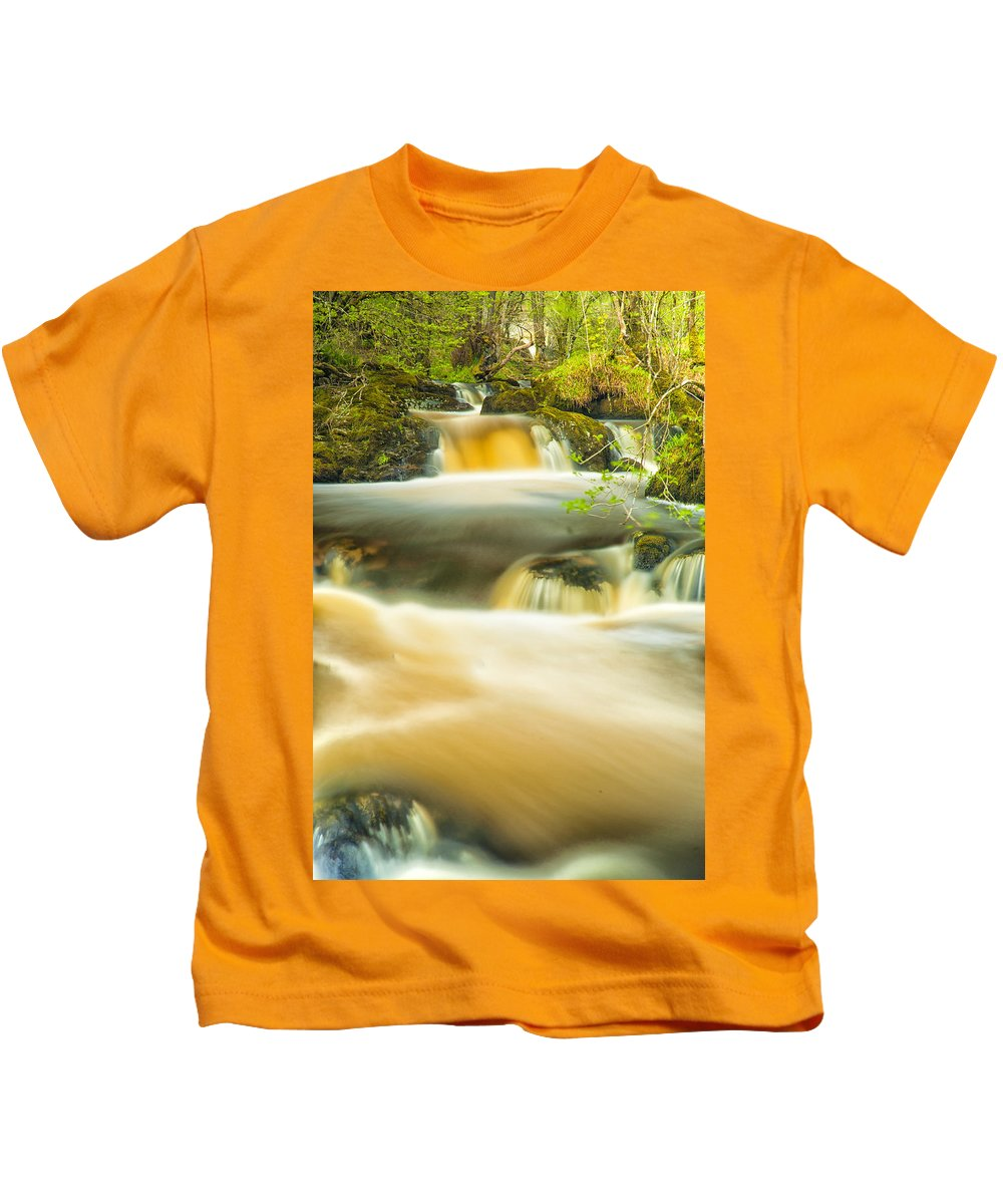 Aira Force Kids T-Shirt featuring the photograph Aira Force by John Paul Cullen